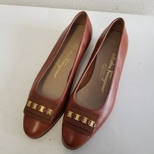 Salvatore Ferragamo logo Loafers Leather Flats